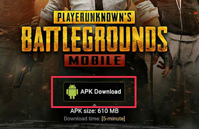 Pubg Mobile apk File size 612 Mb