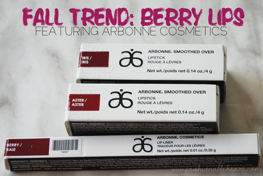 fall trend, lips, arbonne, lipstick, aster, iris, berry, lip liner, swatches, review, bbloggers, bbloggersca, cbb