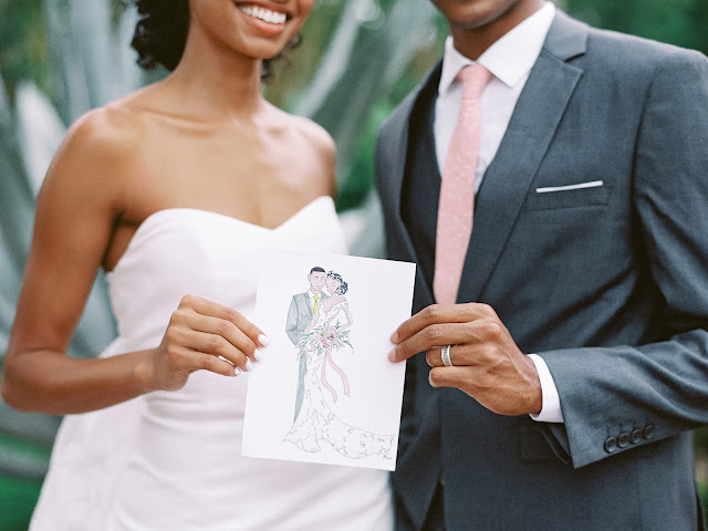 wedding live artist drawing