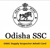 OSSC Supply Inspector Admit Card