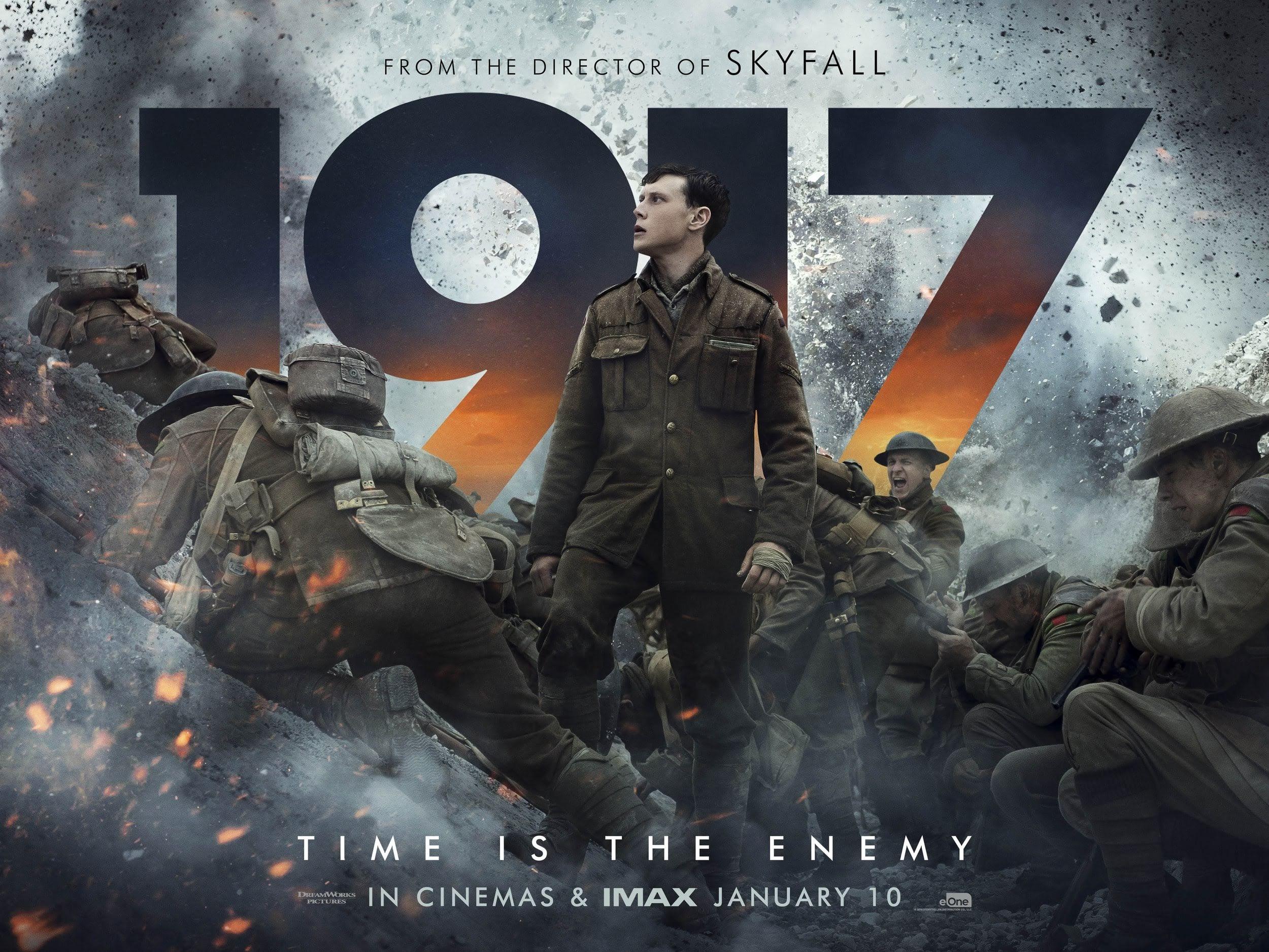 Quad Poster for 1917 : サム・メンデス監督の戦争サスペンスの最新作「1917」のクワッド・ポスター ! !