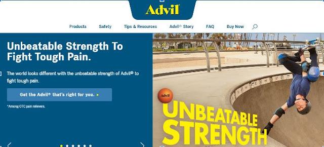advil website landing page conversions
