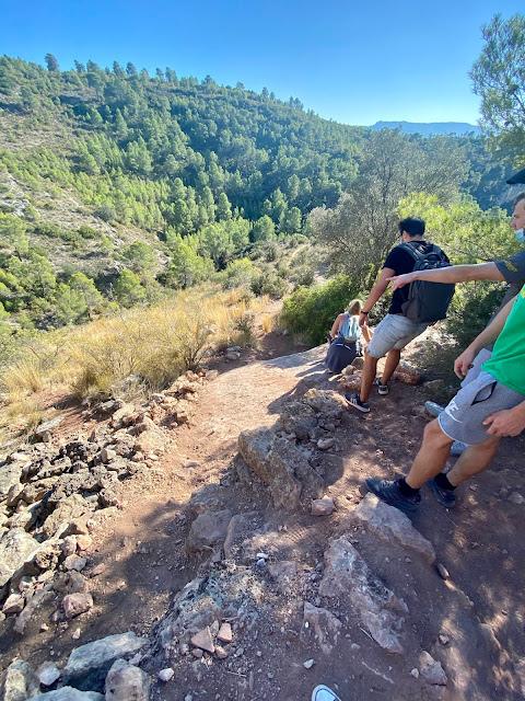 Pena Cortada Aqueduct hiking trail, Valencia Region, Spain