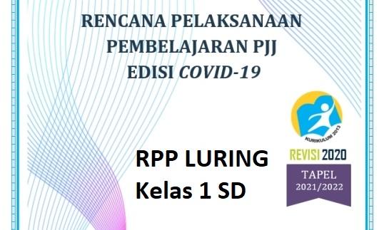 RPP Pembelajaran Luring SD Kelas 1 Kurikulum 2013