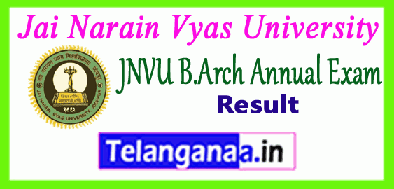 JNVU B.Arch Jai Narain Vyas University Bachelor of Architecture 1st 2nd 3rd 4th Year Result