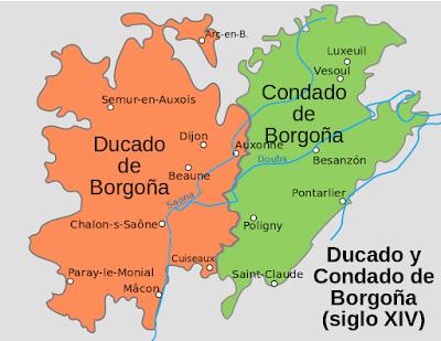 ducado, condado, Borgoña, siglo XIV