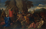 Moses Striking the Rock by Nicolas Poussin - Religious Paintings from Hermitage Museum