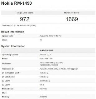 Nokia android specs