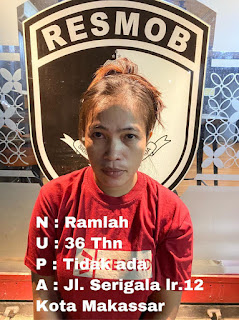Seorang Wanita Diamankan Oleh Anggota Resmob Polda Sulsel Yang Merupakan Pelaku Curat