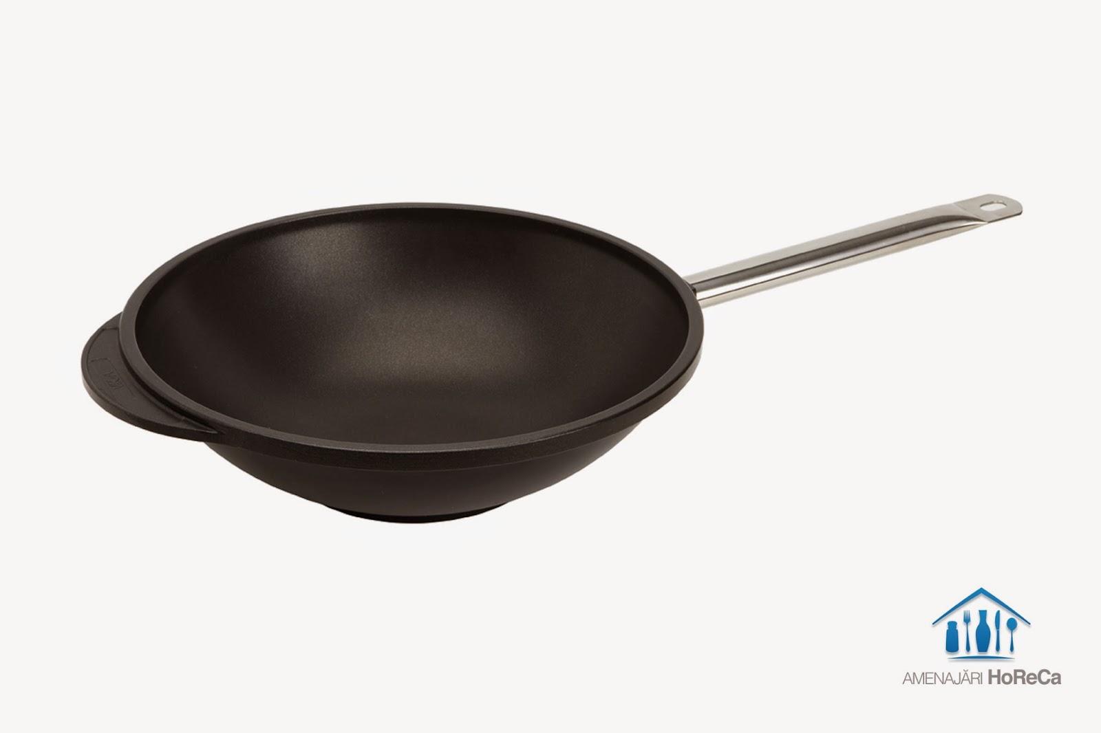 wok  aluminiu cu strat anti-aderent din titanium