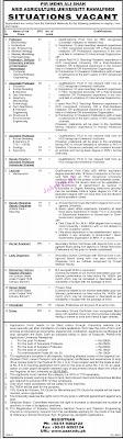 ARID Agriculture Pir Mehr Ali Shah University Job in Pak Rawalpindi 2021
