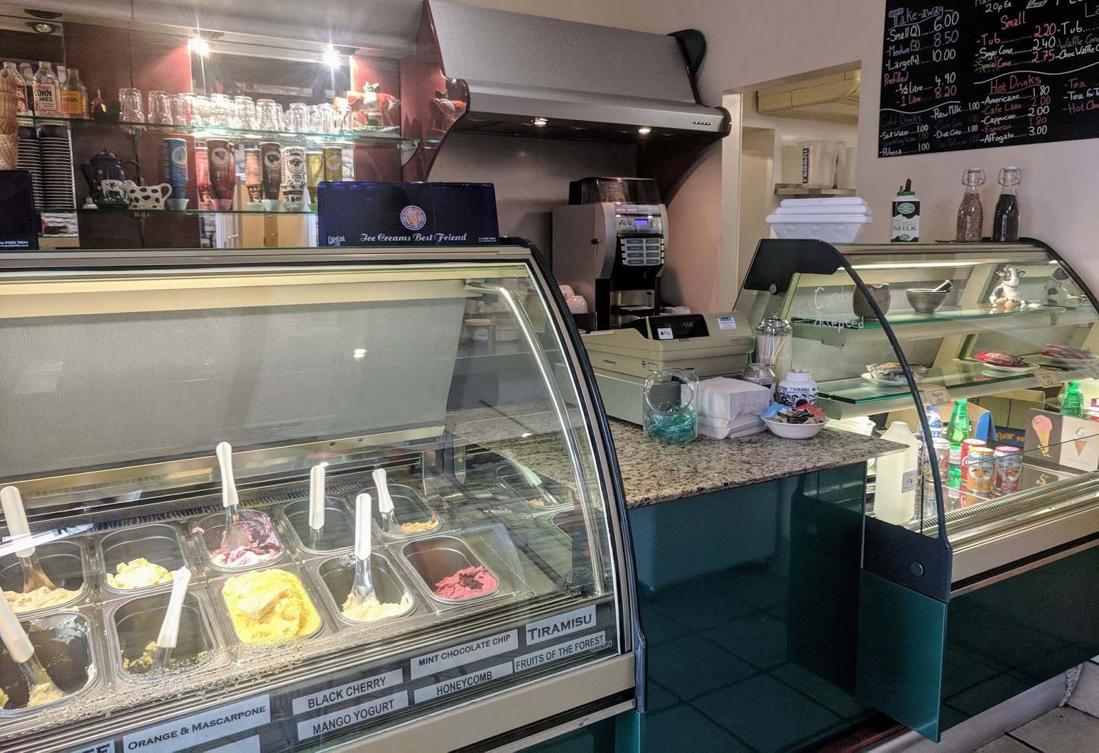 Morwick Dairy Ice Cream Parlour (near Amble)  - ice cream counter