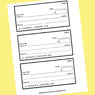 printable cheques for play