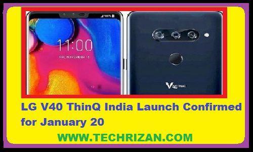 पांच कैमरे के साथ LG V40 ThinQ की 20 जनवरी से होगी सेल Amazon Exclusive