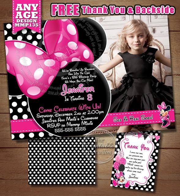 Minnie mouse birthday invitations free selol ink minnie mouse birthday invitations free filmwisefo