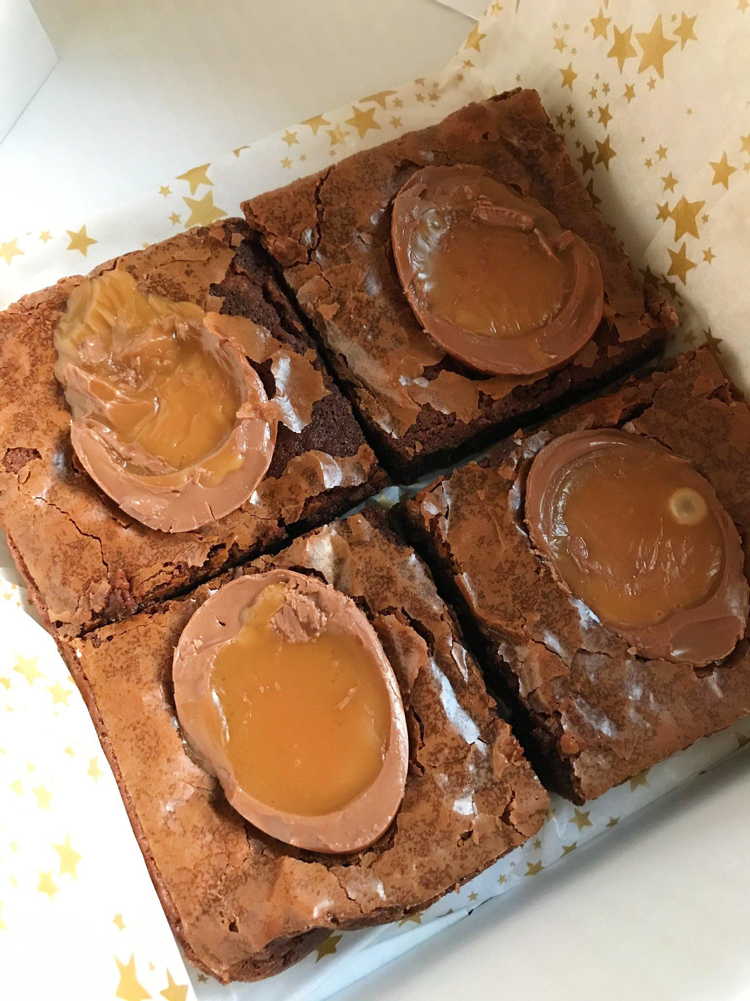 Caramel Egg brownies