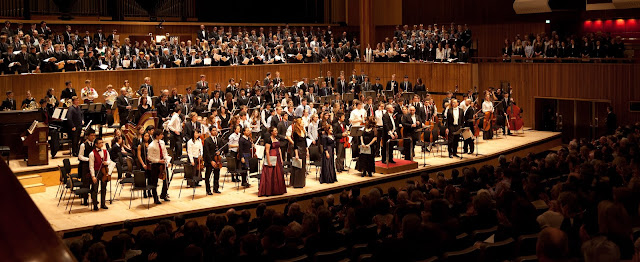 The Duet Philharmonic Orchestra, Ronald Corp & soloists at Royal Festival Hall performing Mahler's Symphony No. 8