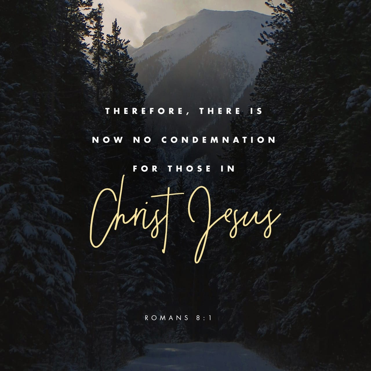Therefore, there is now no condemnation for those who are in Christ Jesus, Romans 8:1 NIV https://romans.bible/romans-8-1