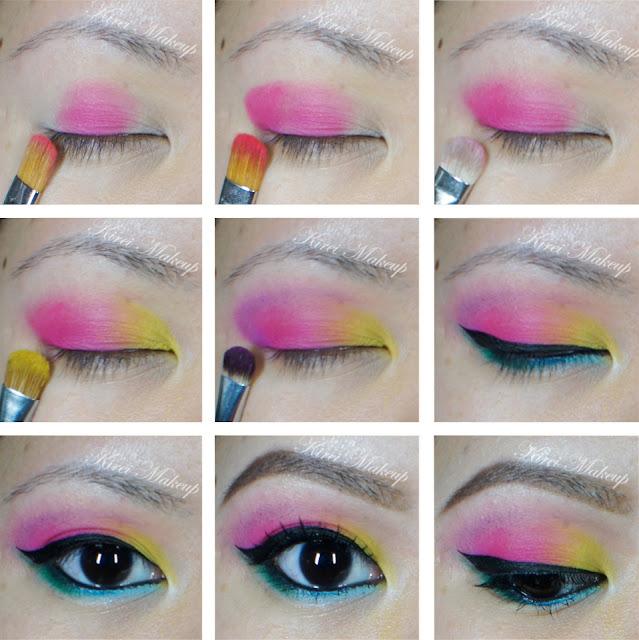 Tutorial passo a passo maquiagem colorida para Carnaval