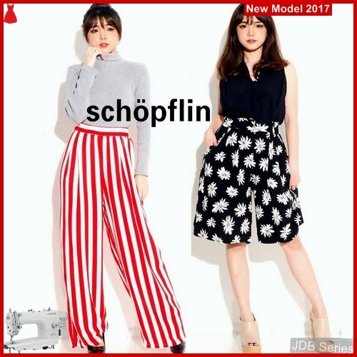 JDB147 FASHION Cullote Schopflin Perempuan Pants
