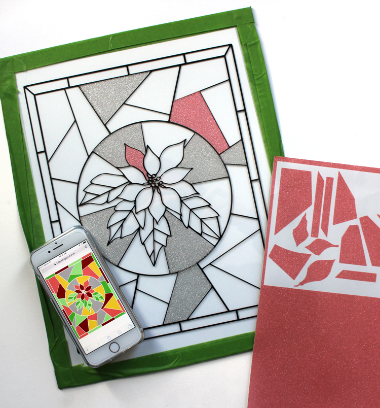 Make a faux stained glass window using a Silhouette machine