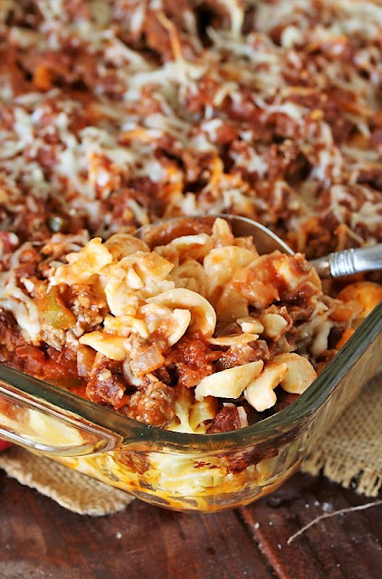 15+ Dinner Recipes with Ground Beef - Hamburger Noodle Bake Image