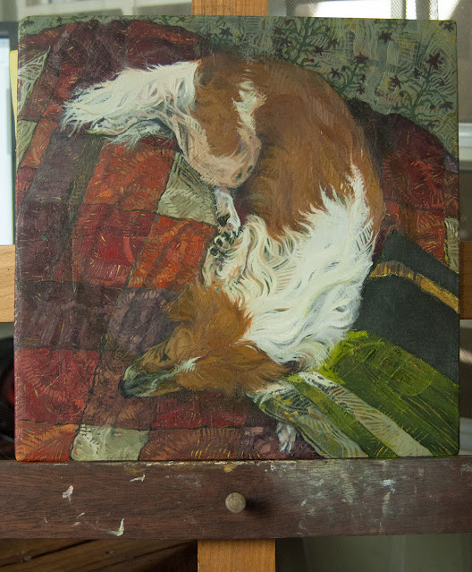 Work in progress animal oil painting