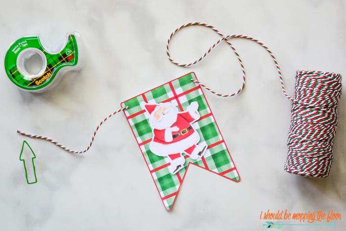 Santa Banner Printable