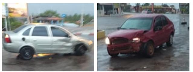 Em Olho D'Água do Casado, veículos colidem no trevo rotativo da cidade