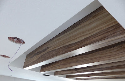 ceiling beams painted to look like wood