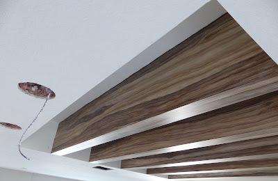 ceiling beams painted to look like wood