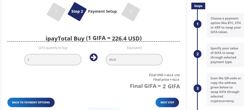 GIFX payment methods