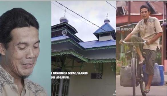 20 Tahun Urus Masjid di Kampung dengan Ikhlas, Pria Ini Nangis saat Terima Hadiah Umrah