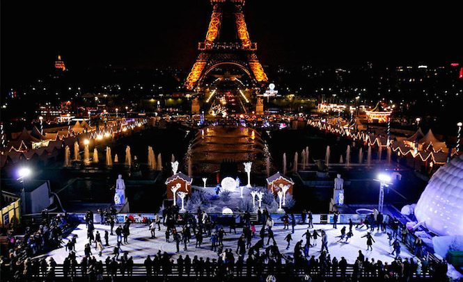 Eiffel Tower skating rink, Paris