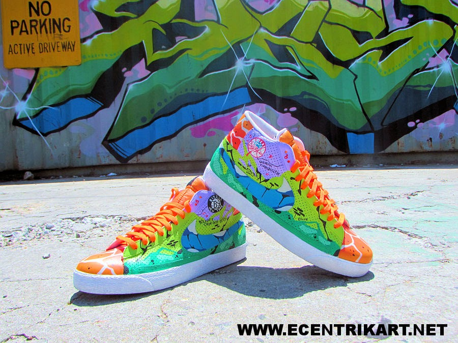 huge selection of bbea3 9a2c7 nike blazer bizzle state of mind customs by ecentrik artistry