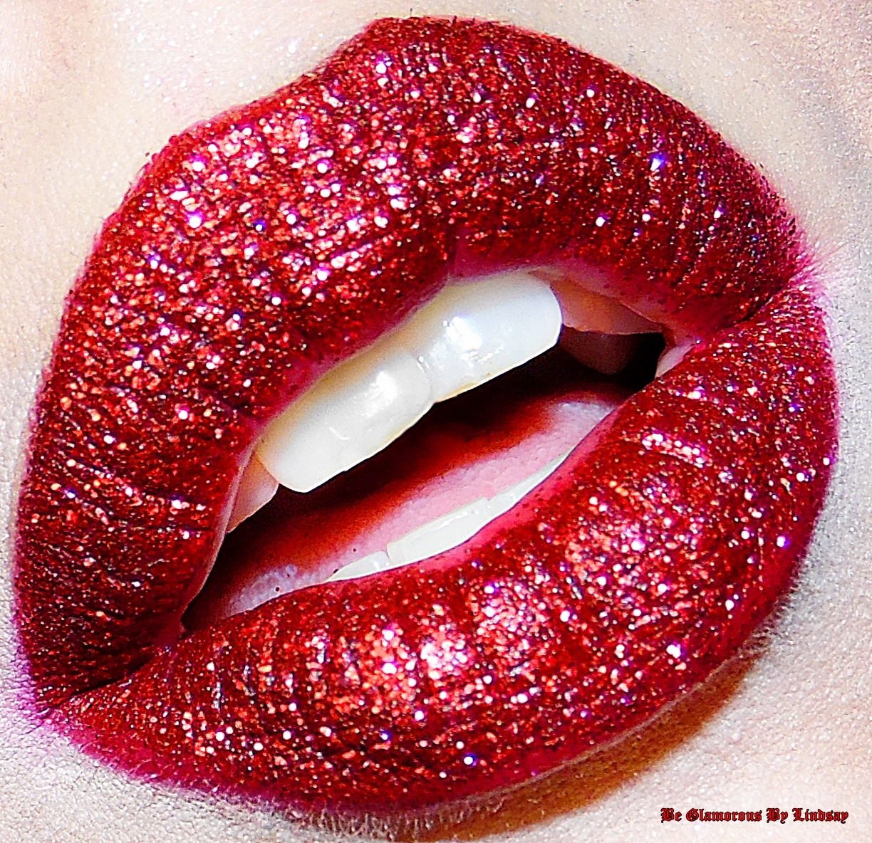 Be Glamorous By Lindsay Day 11 Glitter Lips Af-9304