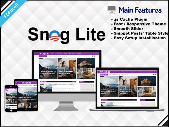 Snog Lite Template - Responsive Blogger Template