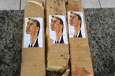 Polícia encontra maconha com caricatura de Jair Bolsonaro no Paraná