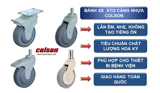 Bánh xe cao su y tế STO Colson www.banhxepu.net