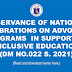 OBSERVANCE OF NATIONAL CELEBRATIONS ON ADVOCACY PROGRAMS  IN SUPPORT TO INCLUSIVE EDUCATION (DM NO.022 S. 2021)