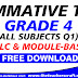 SUMMATIVE TEST GRADE 4 ALL SUBJECTS Q1