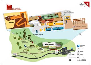 Plano del Museo y Neocueva de Altamira.