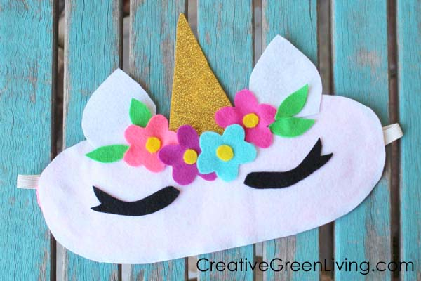 How to make a unicorn horn sleep mask with free printable pattern