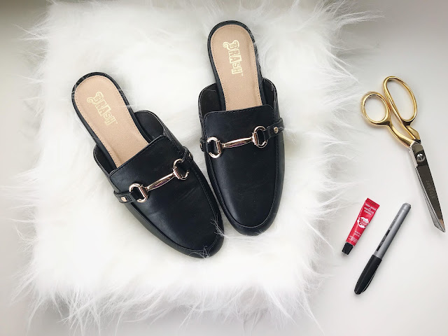 GUCCI PRINCETOWN LEATHER SLIDE DUPE