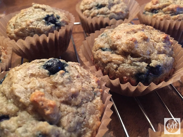 Grain-free, sugar-free banana blueberry muffin recipe