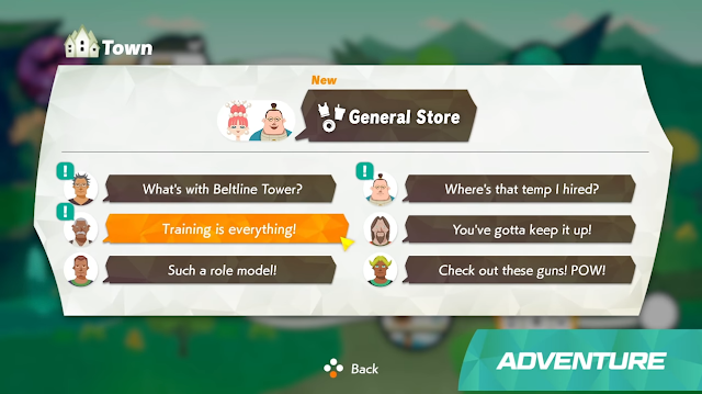 Ring Fit Adventure Nintendo Switch Town menu villager requests