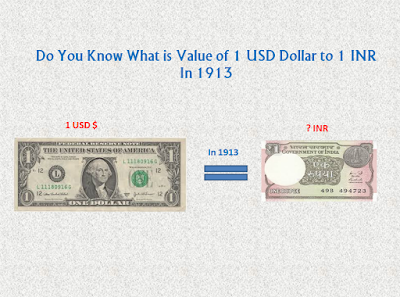 Do you Know What is The Value of 1 USD Dollar to INR in 1913