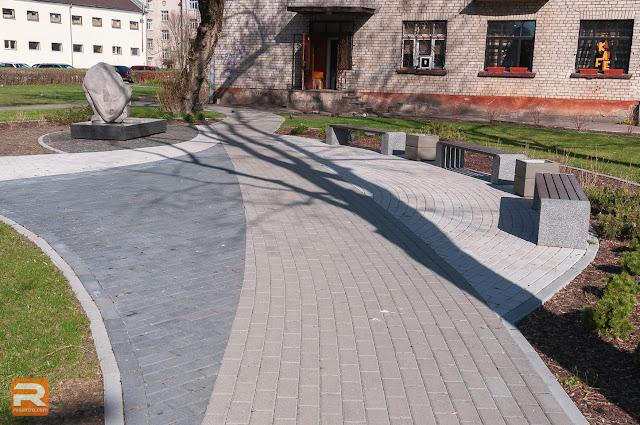 Skvērs pie Jelgavas muzeja Lāčplēsis