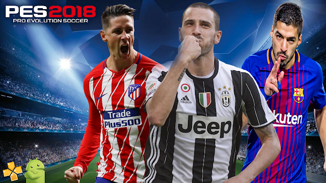 """PES 2018 LITE """"500MB"""" PARA PPSSPP ANDROID"""