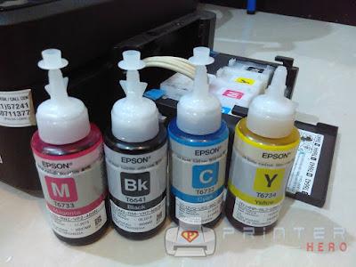 Kode Tinta Printer epson Lseries beserta harga dan cara mengisi tinta